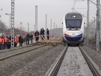 minister turhan ankara made the first test drive on sivas yht line