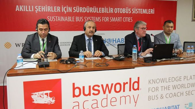 President Buyukgoz gave a conference at Busworld Fair