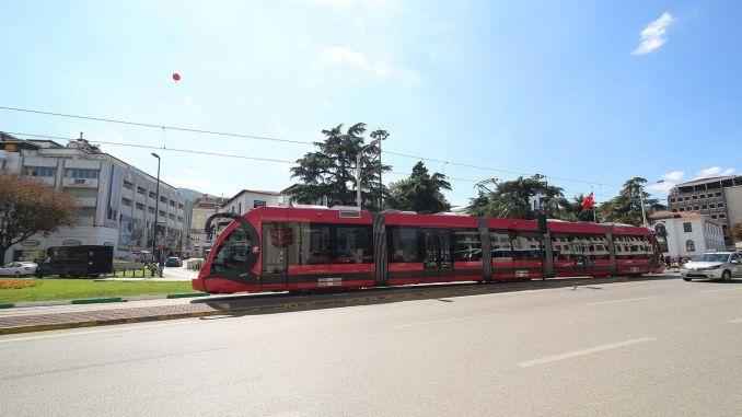 trams are interrupted in Bursa