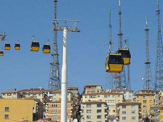 El teleférico se detuvo en Ankara debido al virus de la corana