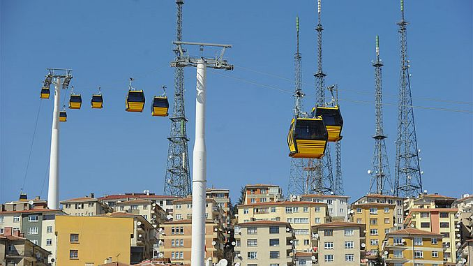 Die Seilbahn hielt in Ankara wegen des Corana-Virus an