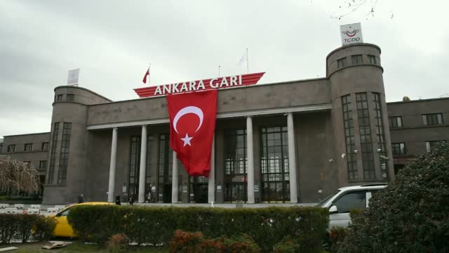 railways equipped train stations with turkish flags dvd original