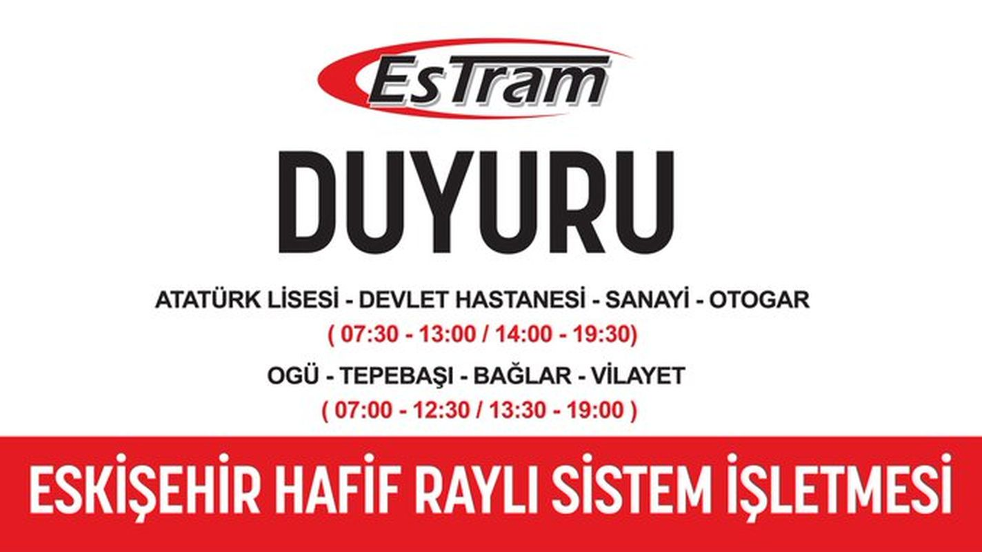 The announcement from estram has changed the hours of the Eskart loading buffers
