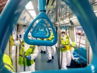 marmaray, which is visited by a thousand people a day, is cleaned from top to toe every day