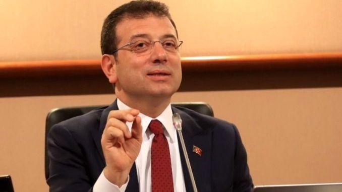 imamoglu предупреди, че трябва да бъде обявено за незаконно излизането в Истанбул