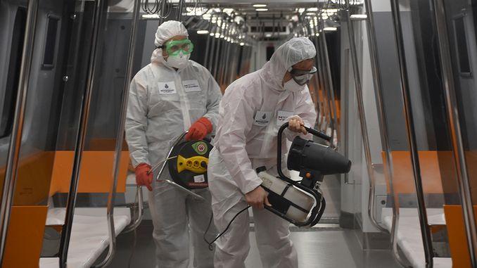 istanbul metrolarinda temizlik onlemleri artirildi