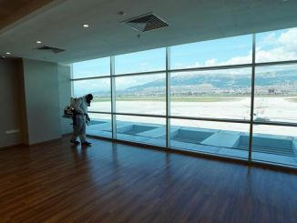 Kahramanmaras airport and bus stops disinfected