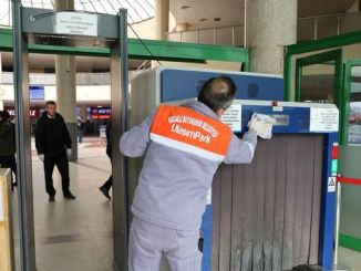 hours cleaning at the Kocaeli intercity bus terminal