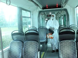 disinfection works continue in konya mass transportation vehicles