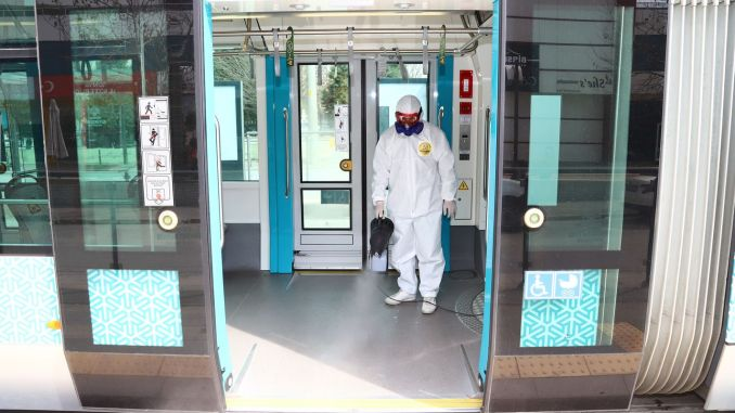 public transportation vehicles are disinfected regularly