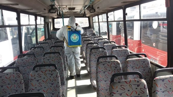 public transportation vehicles are often disinfected in manisa
