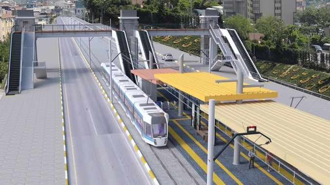 Rail system works on the breeze boulevard