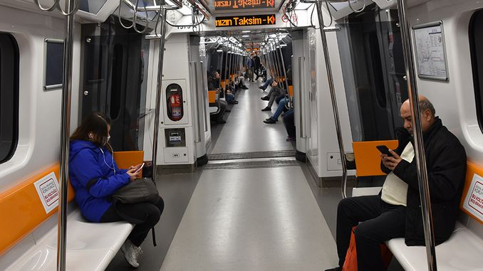 Metro və tramvaylarda sosial məsafənin ölçülməsi
