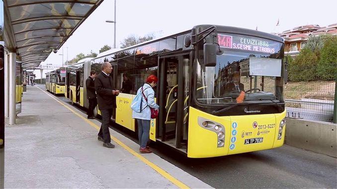 Metrobus da bas suna amfani da ƙura saboda cututtukan Chronavirus