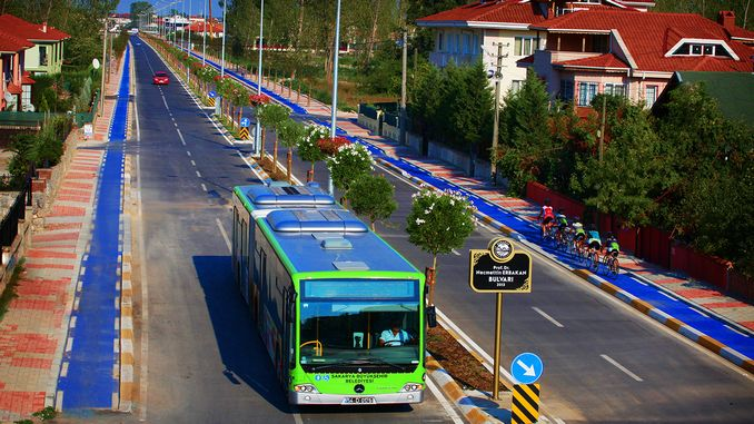 public transport and parking lots for healthcare professionals in sakarya