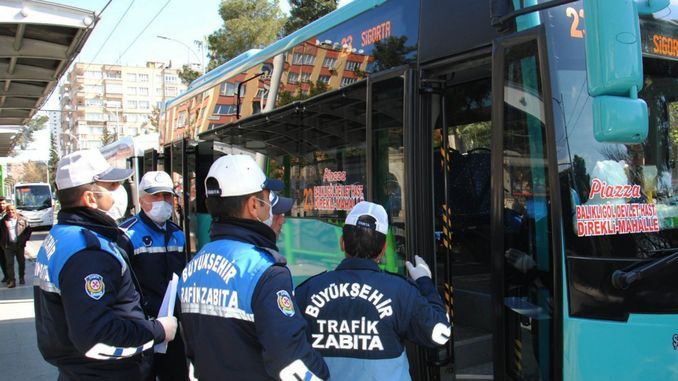 Sanliurfada strict control of urban and intercity transportation