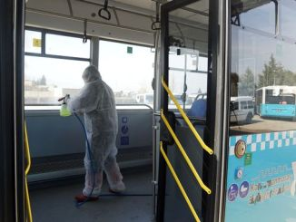 public transport vehicles disinfected