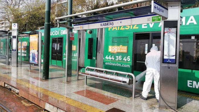 IBB Teams Clean Up Kabatas Bagcilar Tram Line