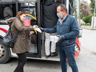 Free Mask Distribution Started in Public Transportation in Izmir