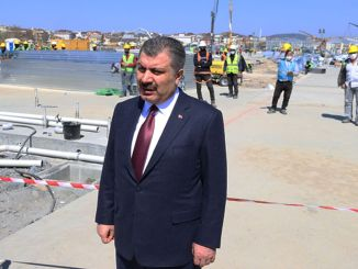 Health Minister Koca Ataturk Examines Construction Area of ​​Hospital at Airport