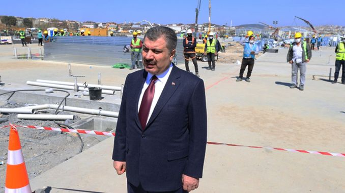 Health Minister Koca Ataturk Examines Construction Area of Hospital at Airport