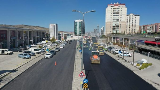 asphalt season opened in Ankara