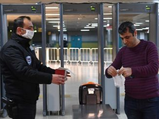 Free mask distribution in public transport vehicles in Ankara started