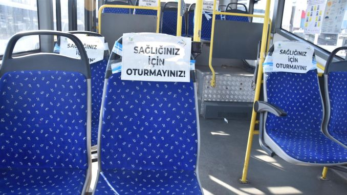 public transportation vehicles carry half the capacity of fish in balikesir