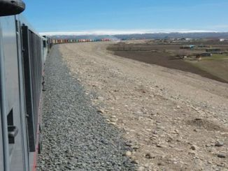 giant export train departed from kars to central asia