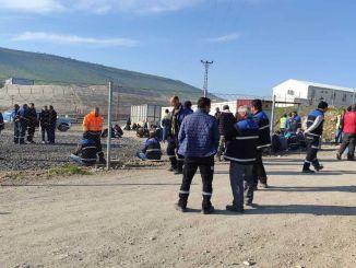 עובדי Diyarbakir Mardin Mazidagi עובדים על בניית מסילות ברזל