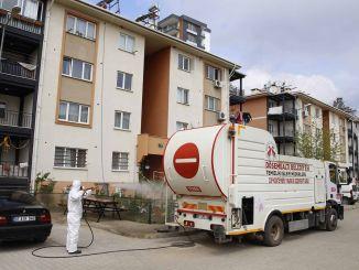 עיריית dosemealti נושאת אמצעי נגיף קורונה לכל נקודה בעיר