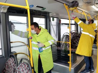 hygiene activities in public transport vehicles in Elazig