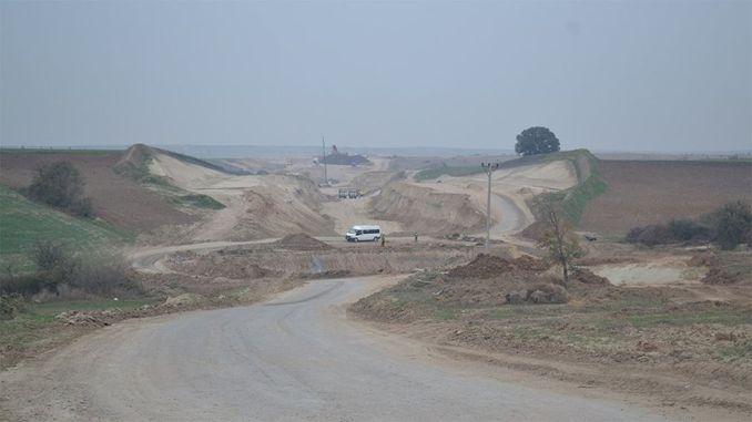 Halkali Kapikule railway construction rebelled the farmer