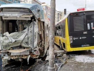 injured in tram iett bus in istanbul