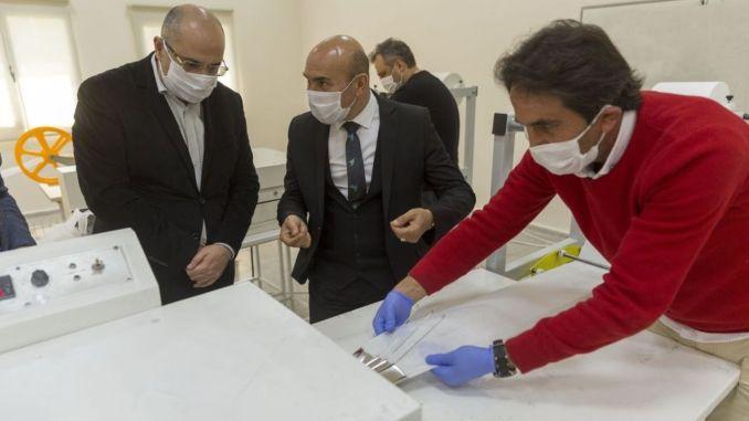 Заводи касби мунисипалии муниципалитет дар як рӯз ҳазор маска истеҳсол мекунад