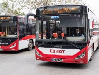 The routes and schedules of private buses to healthcare professionals in Izmir
