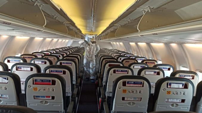 passenger plane from mardin airport and iran was disinfected