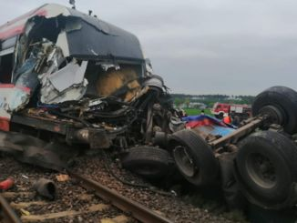 In Poland, at the level crossing, the train crashed into the truck.
