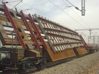 scissor carriage was manufactured in the rail welding factory
