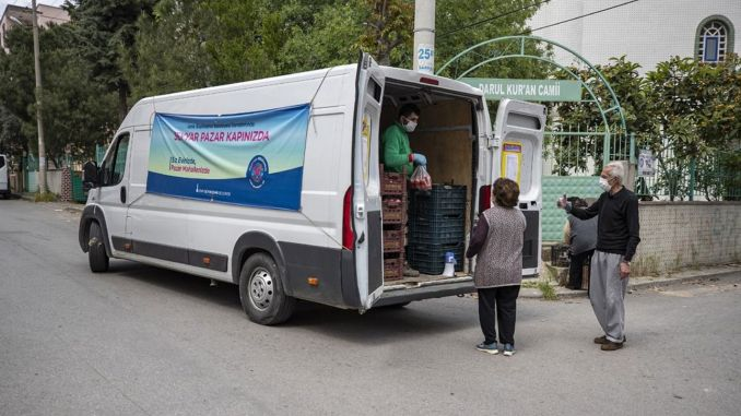 mobile market is more urgent in the district of izmir