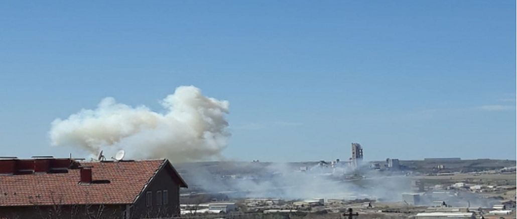 son dakika roketsan fabrikasinda patlama meydana geldi