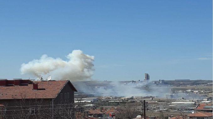sidste minut eksplosion opstod på roketsan fabrik