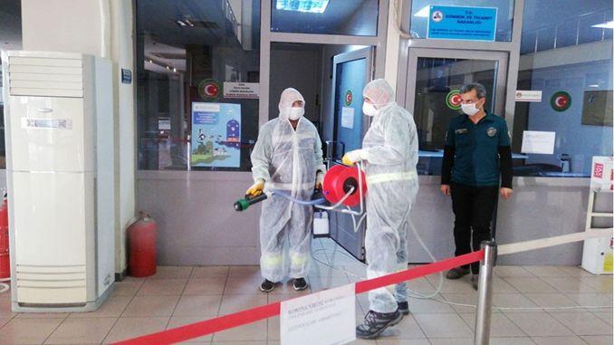 Tackling corona virus in tcdd izmir port management