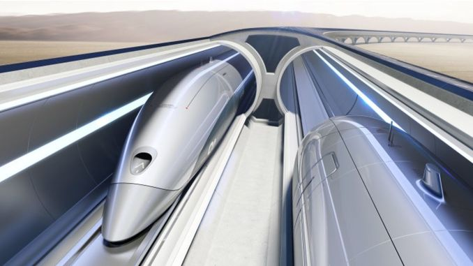 How fast hyperloop works even from the plane