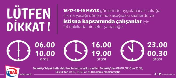 Daily Private Schedule from İZBAN