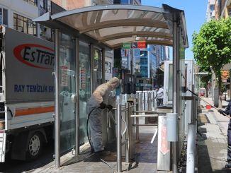 Eskisehirde Tramvay Duraklari Tertemiz