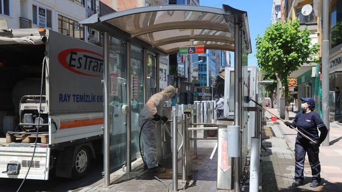 Dừng xe điện ở Eskisehir