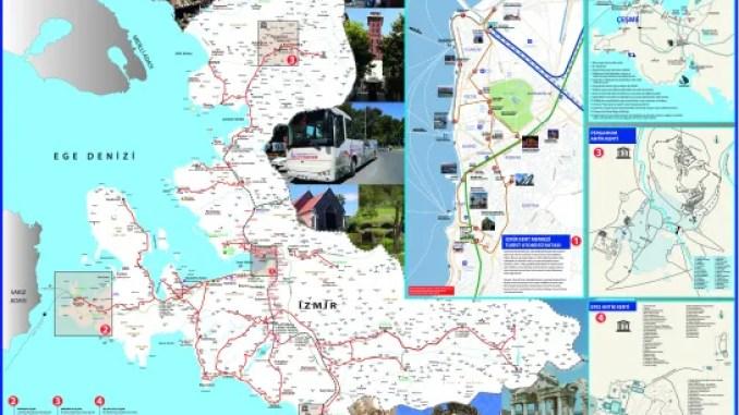 Mapa Turističkog vodiča Izmir