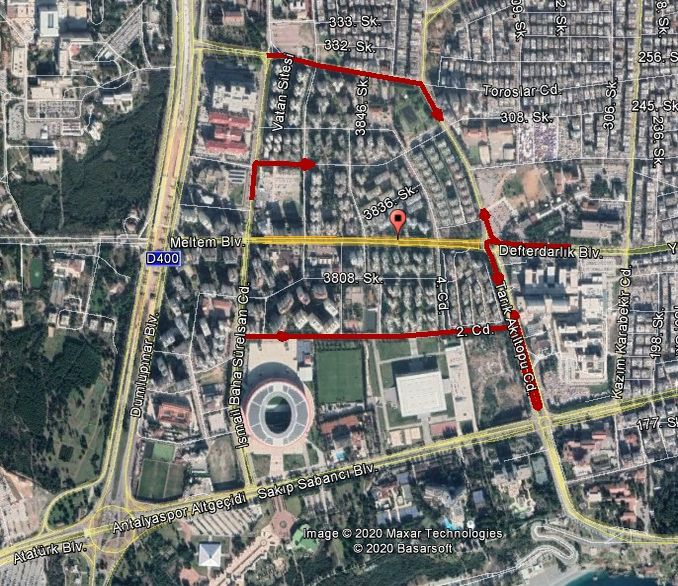 Roads to be closed on Meltem Boulevard