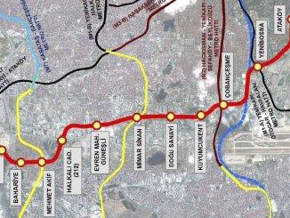 Stasiun dan Rute Metro Ataköy İkitelli Metro